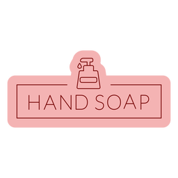 Bathroom label hand soap flat