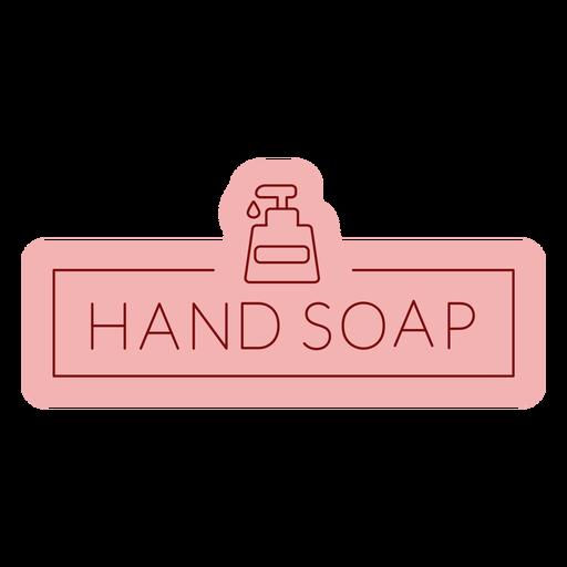 Etiqueta de baño jabón de manos plana