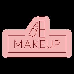 Etiqueta de baño maquillaje plano