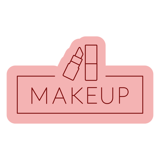 Maquillaje de etiqueta de baño plana