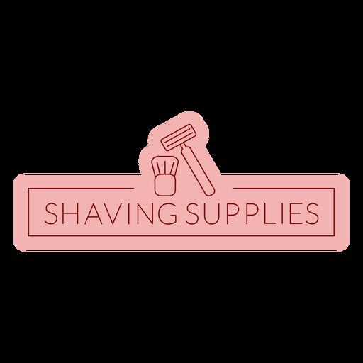 Bathroom label shaving supplies flat