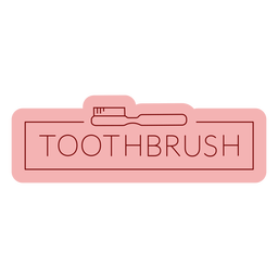 Bathroom label toothbrush flat