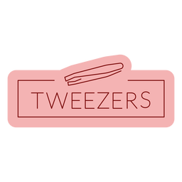 Bathroom label tweezers flat