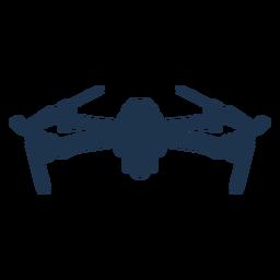 Drone cuádruple frontal inclinado