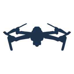 Drone quad tilted front