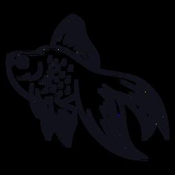 Pez trazo de pescado
