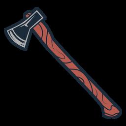 Equipo de hacha de icono de hacha de leñador