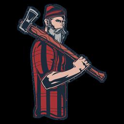 Icono de hacha de leñador leñador
