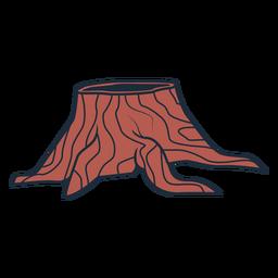 Icono de tronco de árbol de leñador cortado