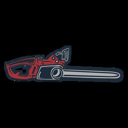 Icono de sierra eléctrica de leñador
