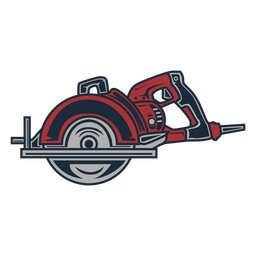 Lumberjack electric saw circular icon