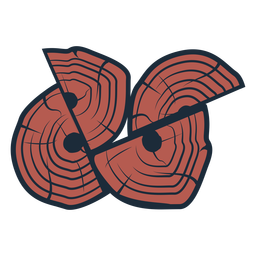 Lumberjack logs icon