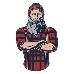 Icono de posando leñador