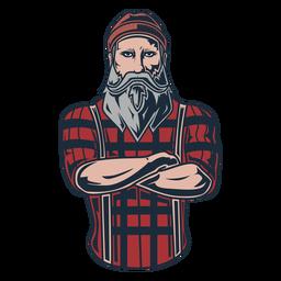 Lumberjack posing icon