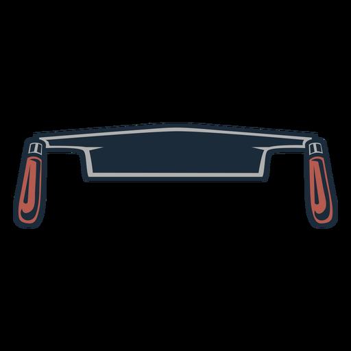 Icono de asas dobles de sierra de leñador
