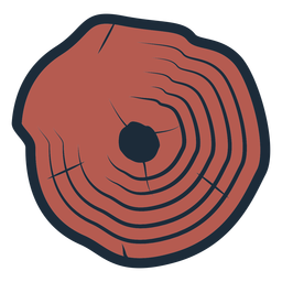 Lumberjack tree trunk icon