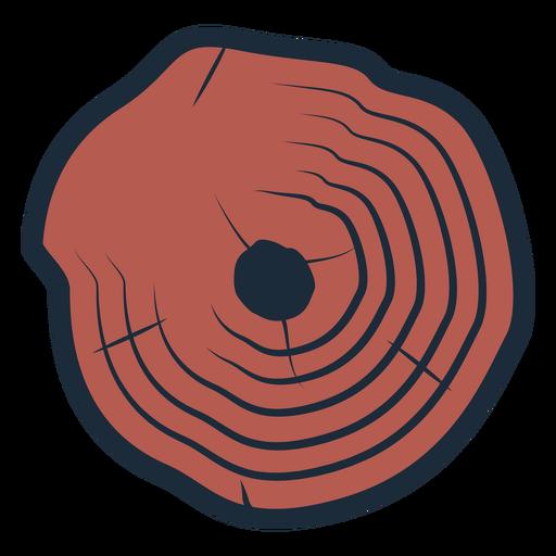 Lumberjack tree trunk icon