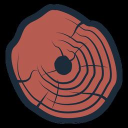 Icono de tronco de leñador