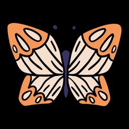 Dibujado a mano mariposa mágica