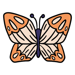 Magic butterfly hand drawn