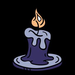 Dibujado a mano vela mágica