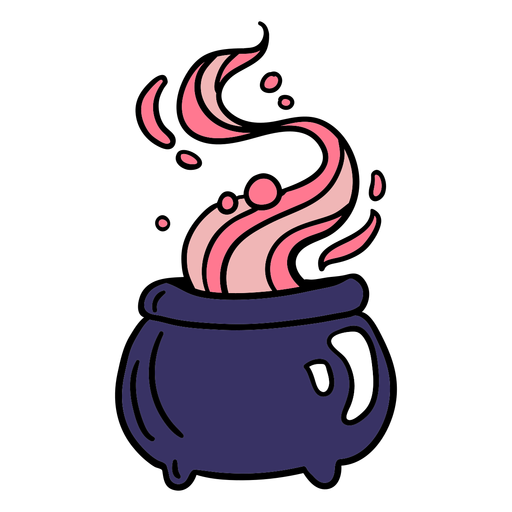 Magic cauldron hand drawn Transparent PNG