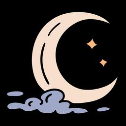 Dibujado a mano luna mágica