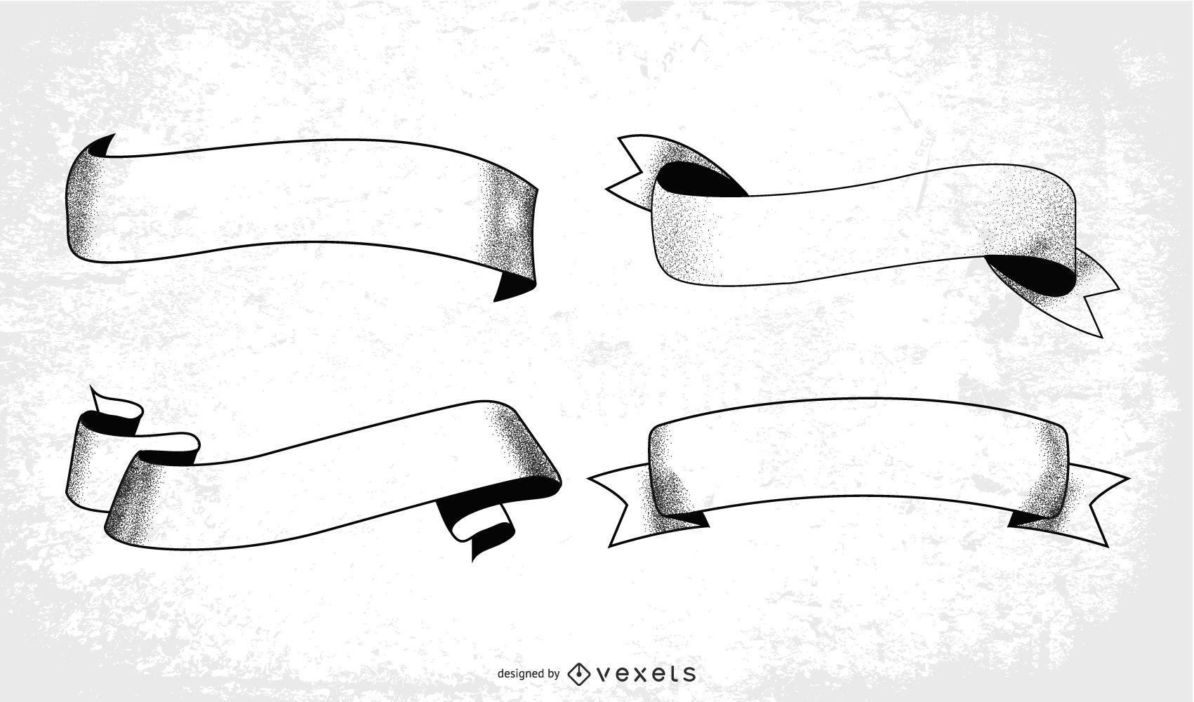 Vector de cintas de grunge
