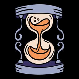Reloj de arena mágico dibujado a mano