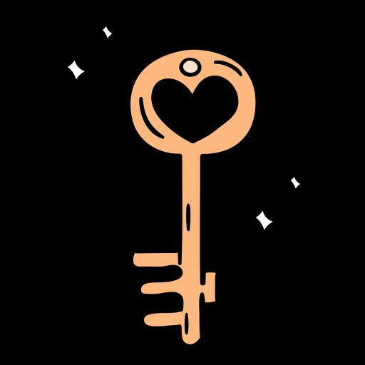Dibujado a mano llave mágica