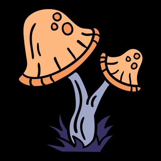 Magic mushroom hand drawn