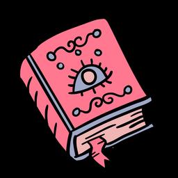 Dibujado a mano libro de hechizos mágicos