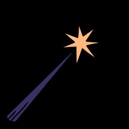 Dibujado a mano varita mágica
