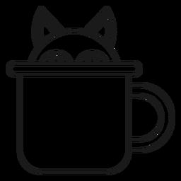 Magician cat cup stroke