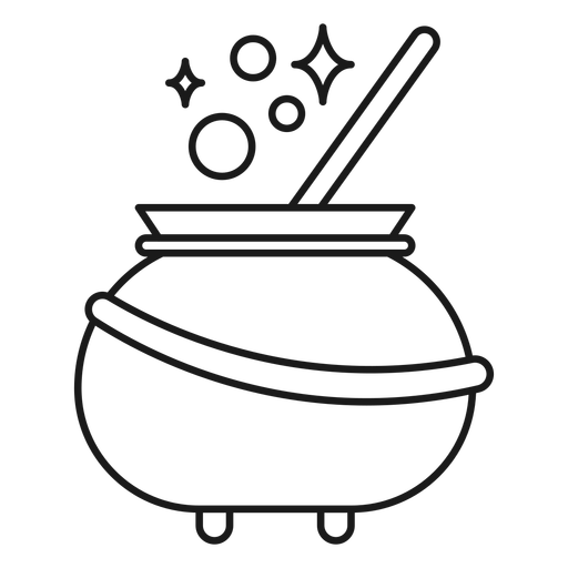 Magician cauldron stroke