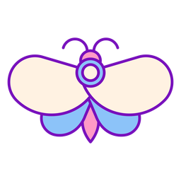 Magier farbiger Schmetterlingsschlag