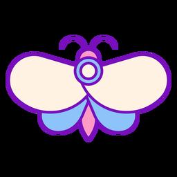 Trazo de mariposa color mago