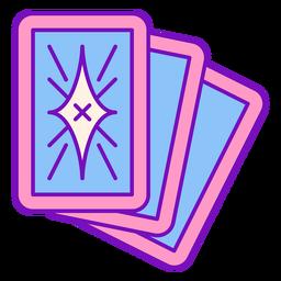 Magier farbige Karten Strich