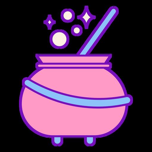 Magician colored cauldron stroke