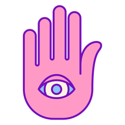 Magician colored hand palm stroke