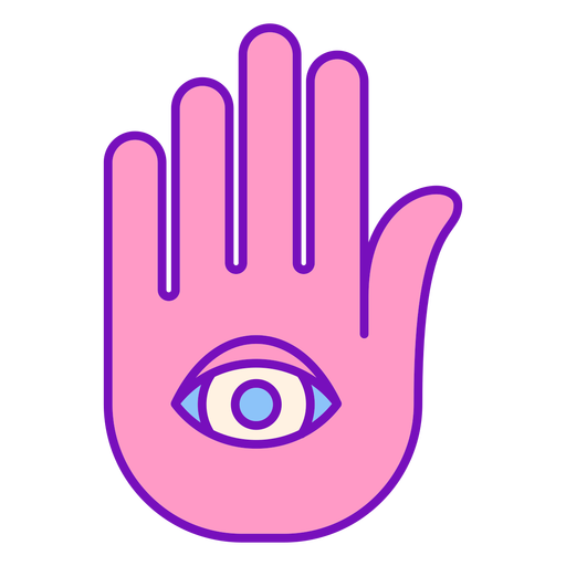 Magician colored hand palm stroke Transparent PNG