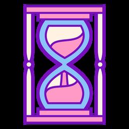 Trazo de reloj de arena de color mago