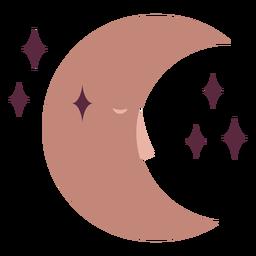 Magician crescent moon flat