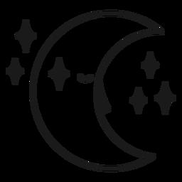 Magician crescent moon stroke