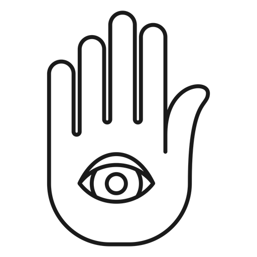 Magician hand palm stroke Transparent PNG