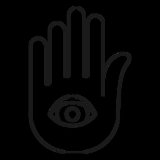 Magician hand palm stroke