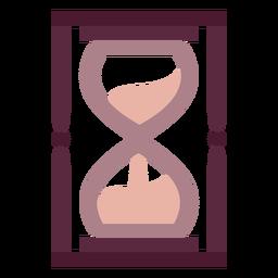 Plano de reloj de arena mago