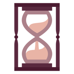 Reloj de arena mago plano