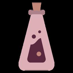 Botella de poción mágica plana cónica