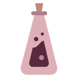 Magician potion bottle conical flat